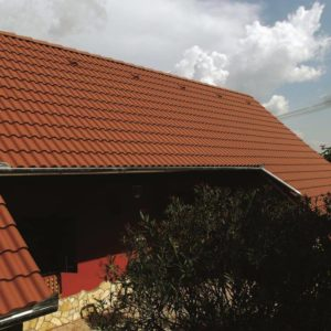 Strecha s betónovou škridlou Terran Synus - hnedá