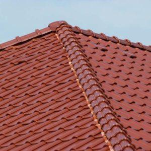 Keramická strešná krytina Röben piemont gaštanová glazúra - realizácia strechy detail