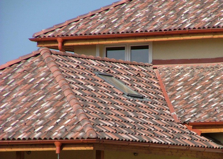 Betónová strešná krytina Terran Coppo venezia - realizácia strechy detail