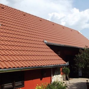 Strecha s betónovou škridlou Terran Synus - medenohnedá